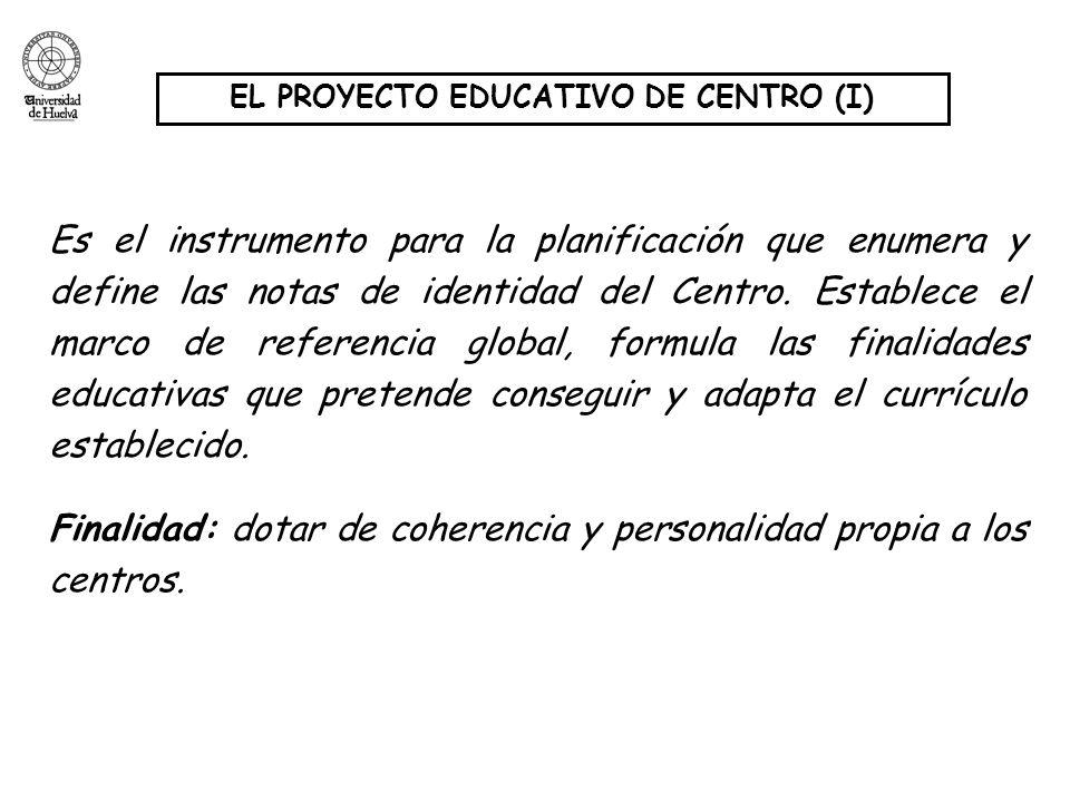 EL PROYECTO EDUCATIVO DE CENTRO (I)