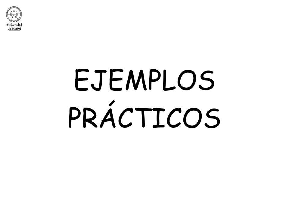 EJEMPLOS PRÁCTICOS