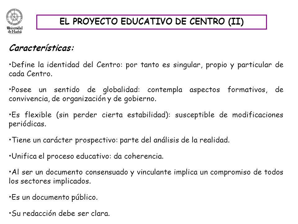 EL PROYECTO EDUCATIVO DE CENTRO (II)