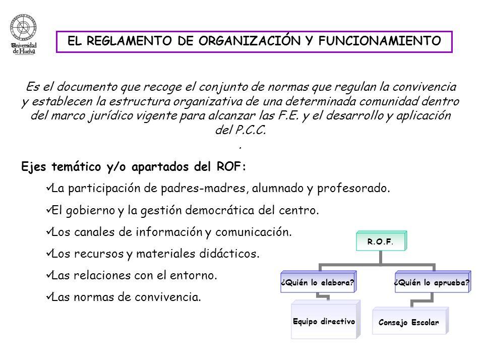 EL REGLAMENTO DE ORGANIZACIÓN Y FUNCIONAMIENTO