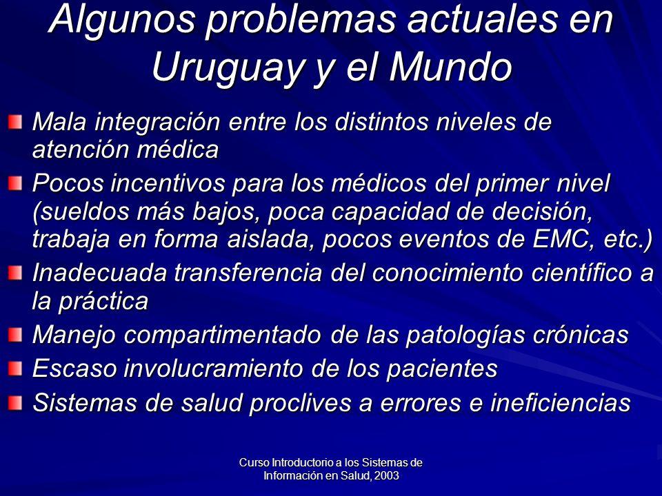 Algunos problemas actuales en Uruguay y el Mundo