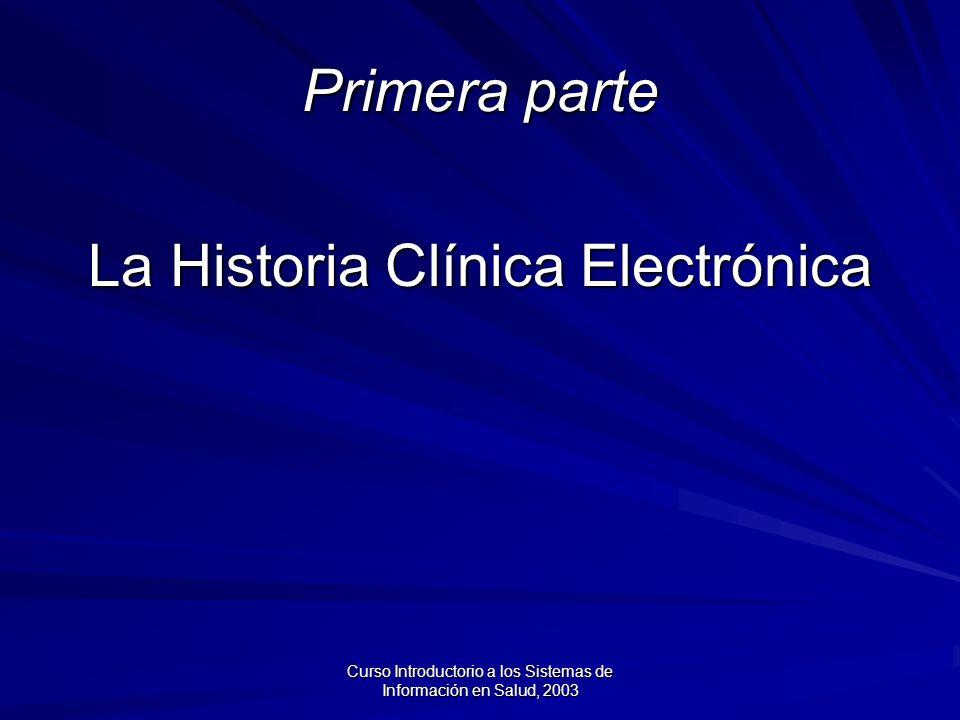 La Historia Clínica Electrónica