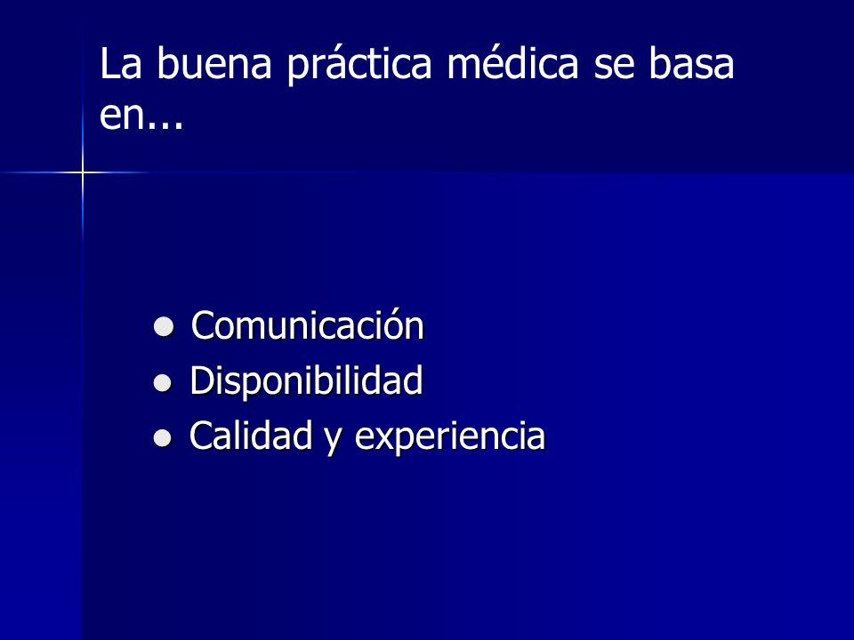La buena práctica médica se basa en...