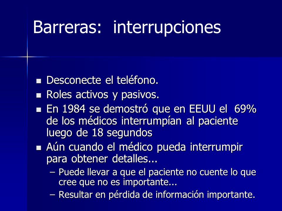 Barreras: interrupciones
