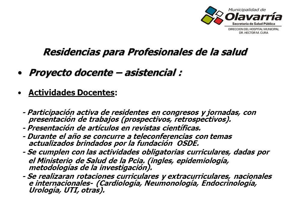 Residencias para Profesionales de la salud