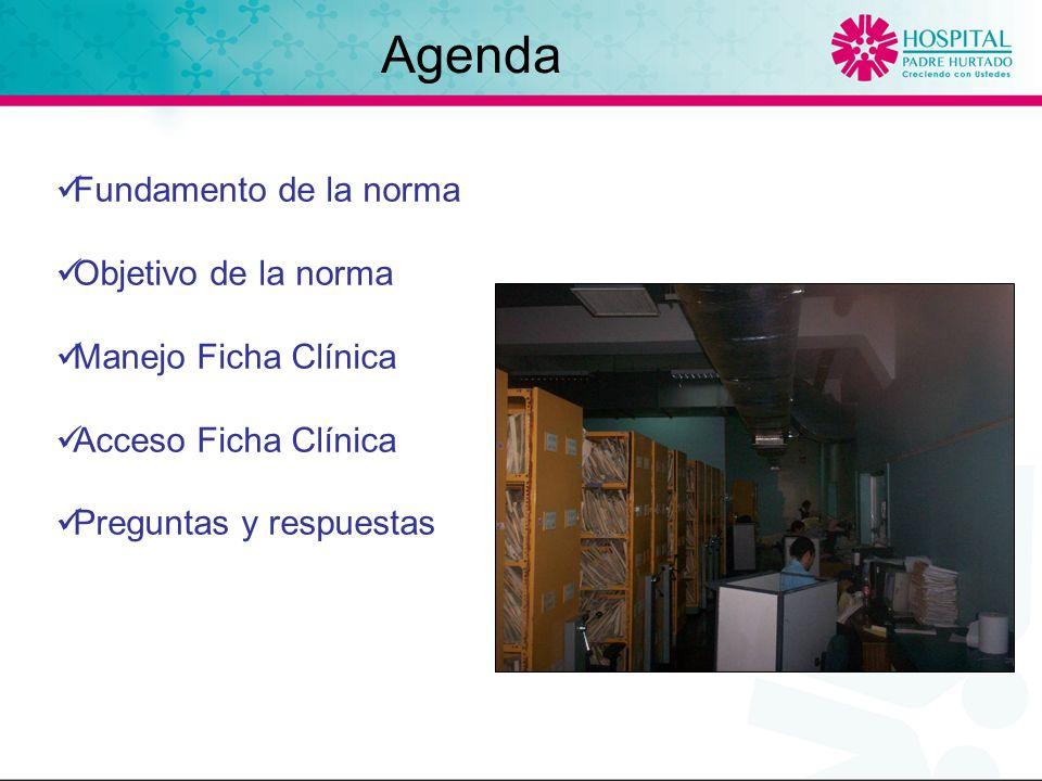 Agenda Fundamento de la norma Objetivo de la norma