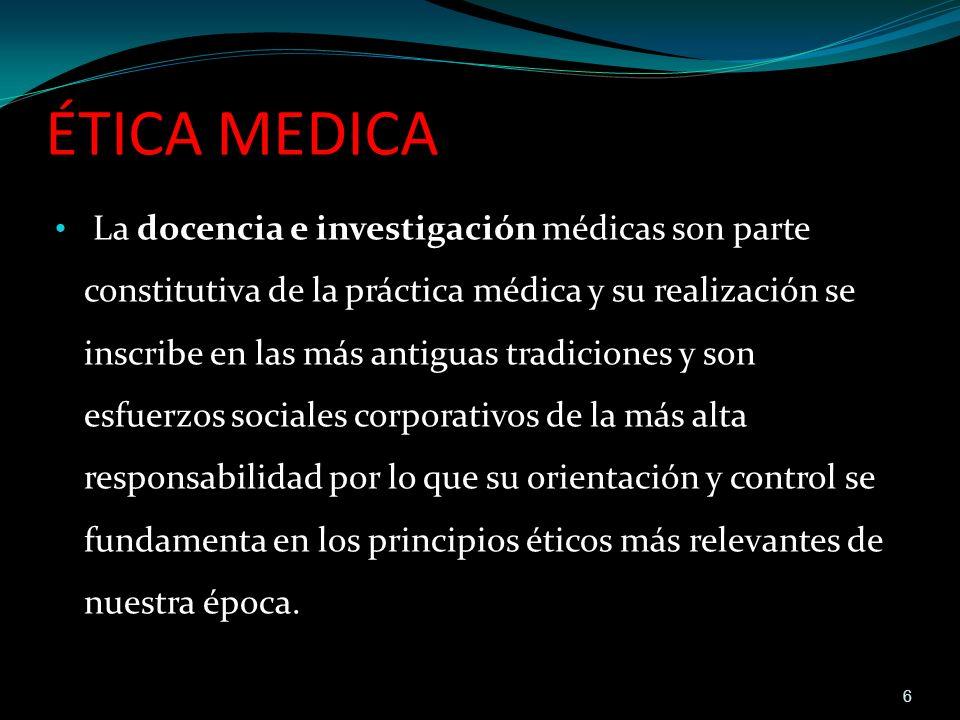 ÉTICA MEDICA