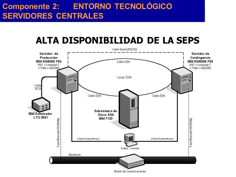 ALTA DISPONIBILIDAD DE LA SEPS