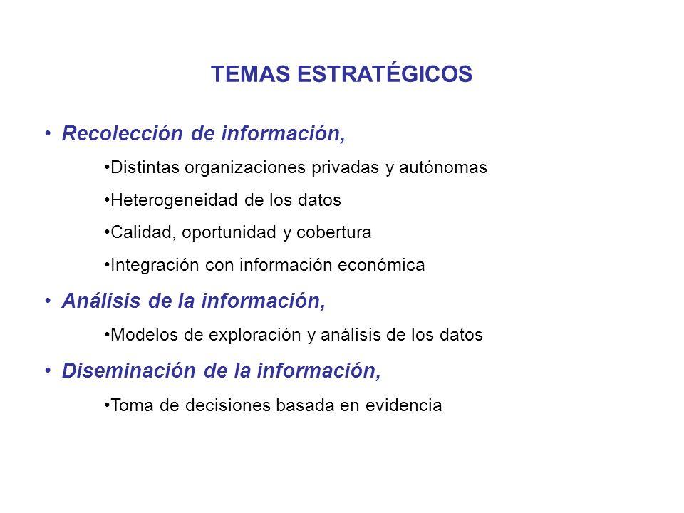 TEMAS ESTRATÉGICOS Recolección de información,