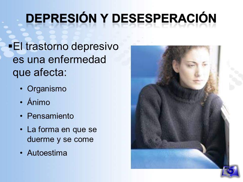 El trastorno depresivo es una enfermedad que afecta: