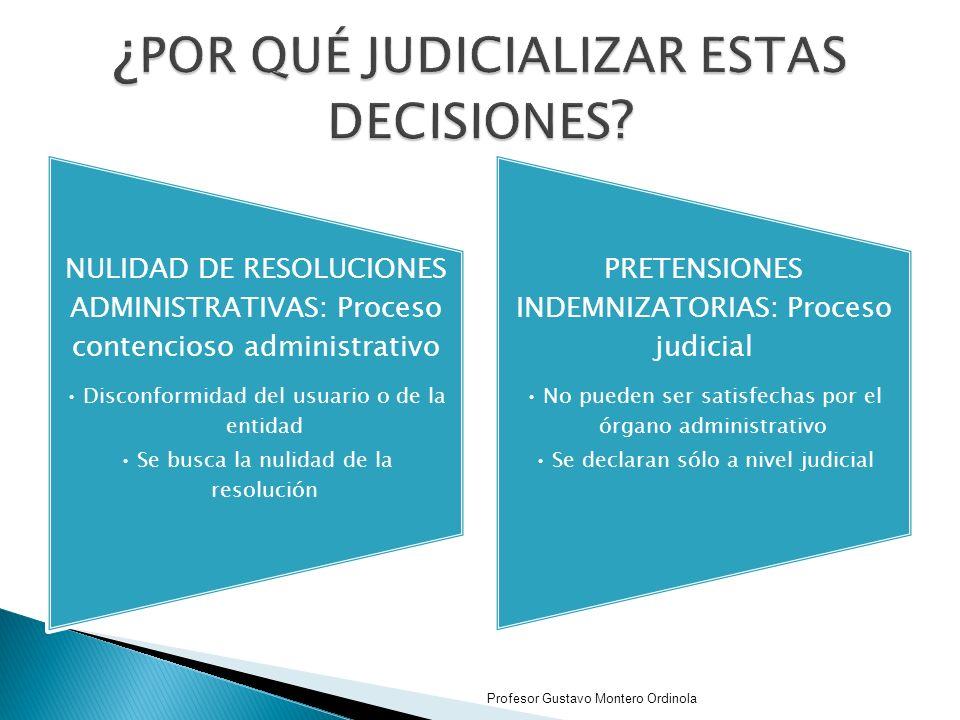 ¿POR QUÉ JUDICIALIZAR ESTAS DECISIONES