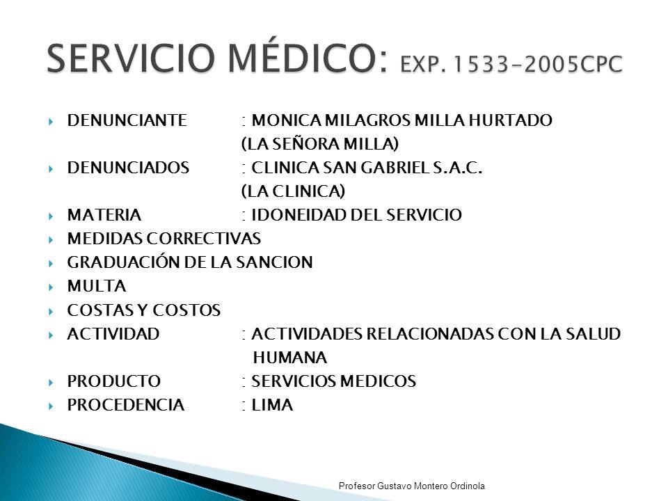 SERVICIO MÉDICO: EXP. 1533-2005CPC