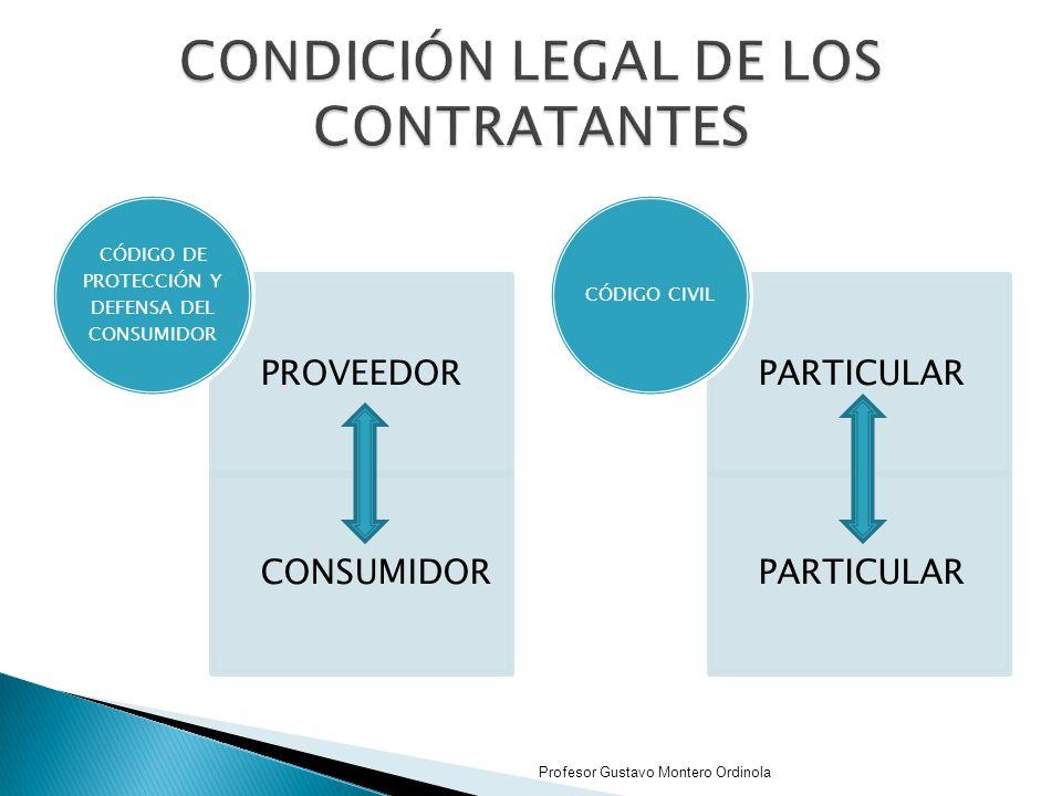 CONDICIÓN LEGAL DE LOS CONTRATANTES