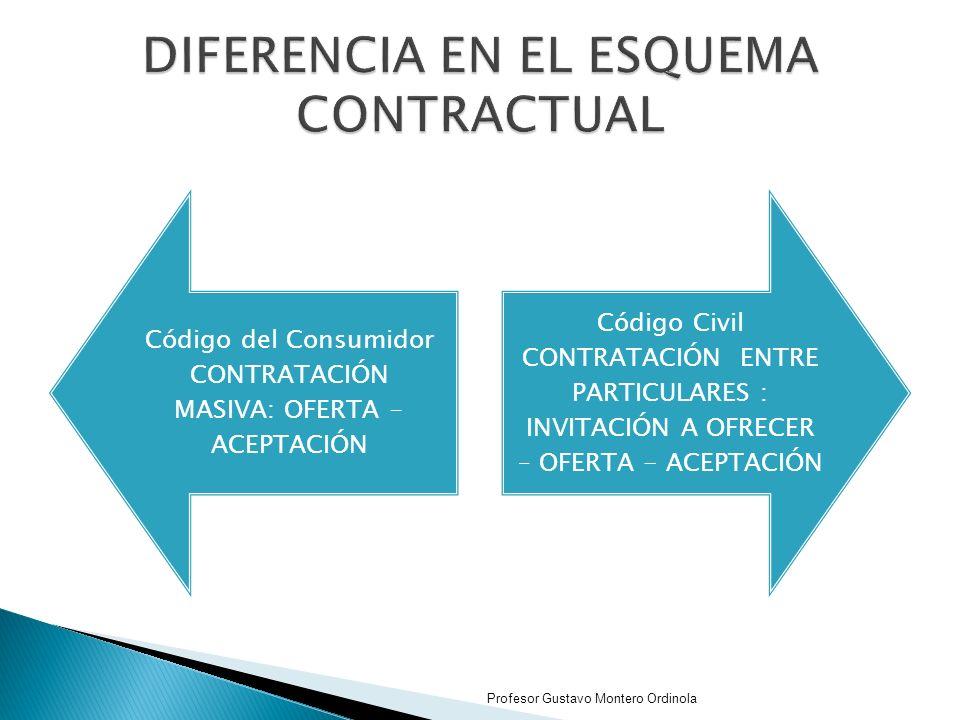 DIFERENCIA EN EL ESQUEMA CONTRACTUAL