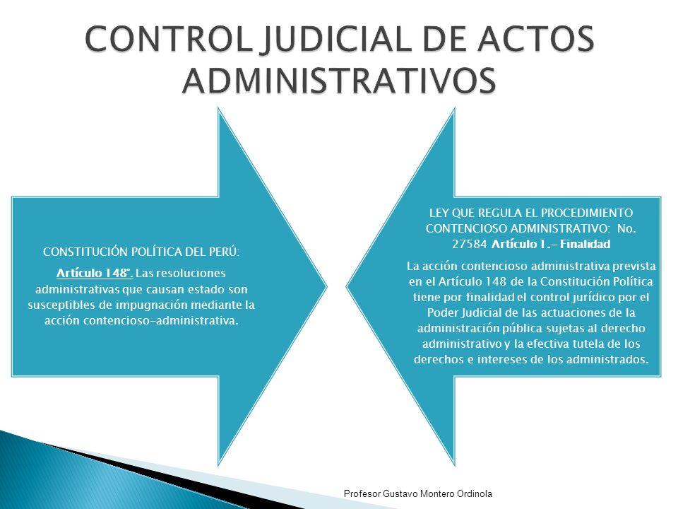 CONTROL JUDICIAL DE ACTOS ADMINISTRATIVOS
