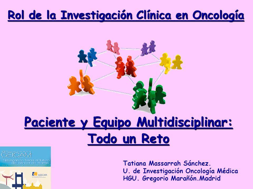 Rol de la Investigación Clínica en Oncología