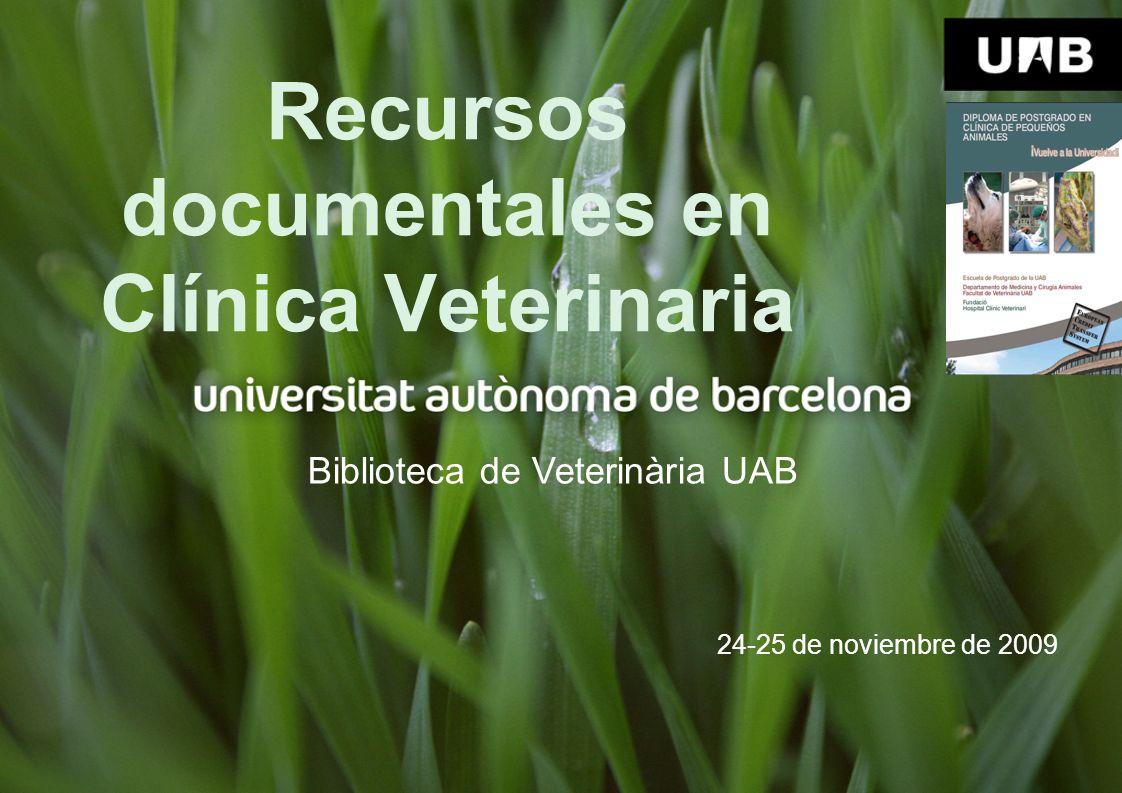 Recursos documentales en Clínica Veterinaria