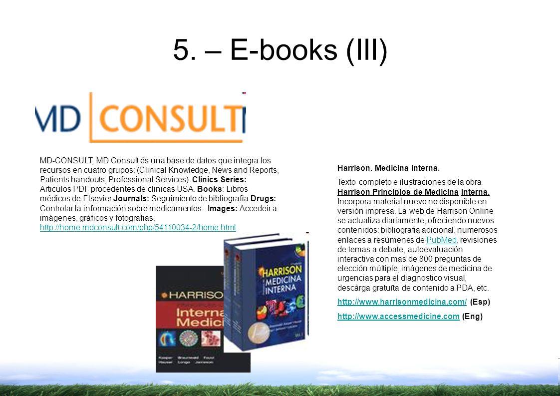 5. – E-books (III)
