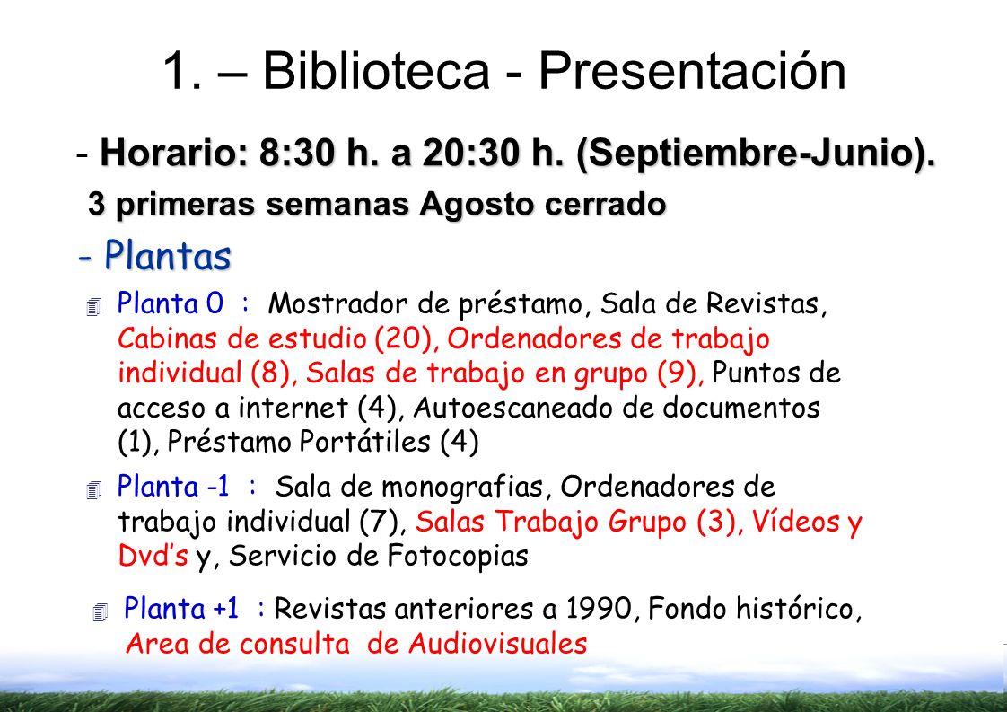 1. – Biblioteca - Presentación
