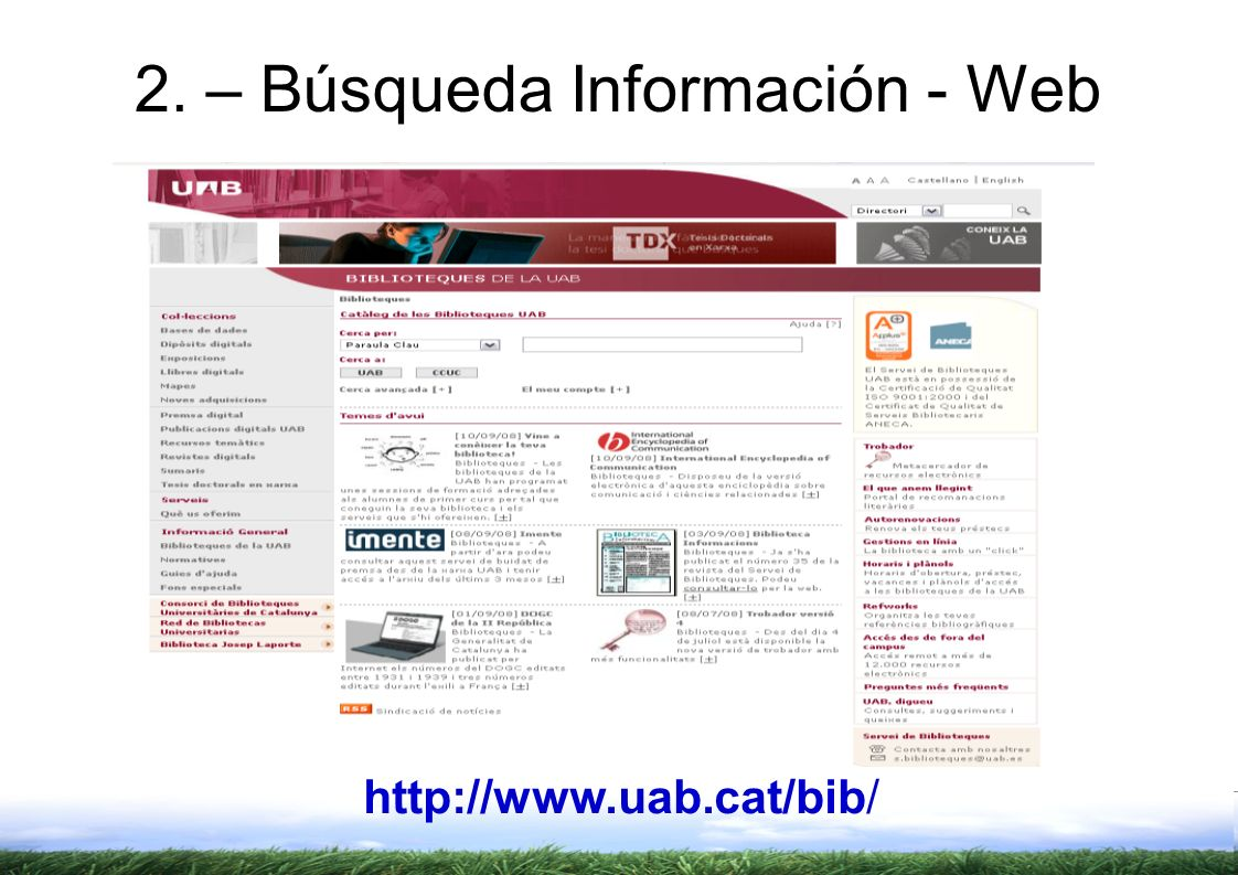 2. – Búsqueda Información - Web