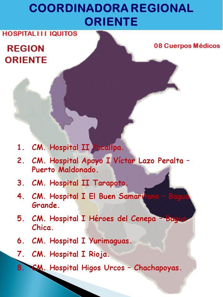 COORDINADORA REGIONAL ORIENTE