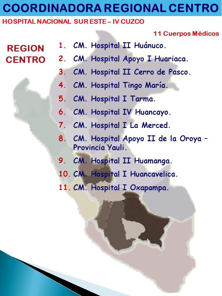 COORDINADORA REGIONAL CENTRO