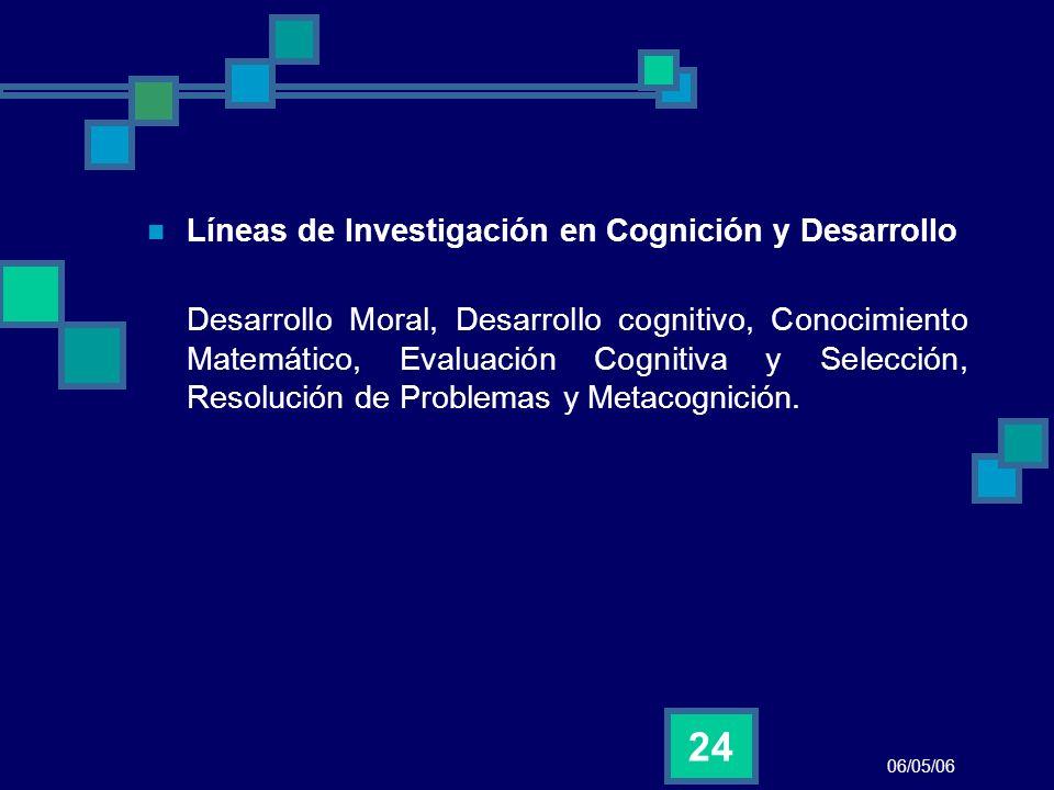 Líneas de Investigación en Cognición y Desarrollo