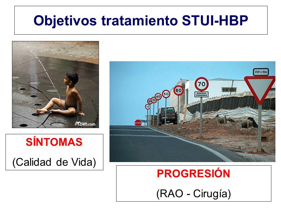 Objetivos tratamiento STUI-HBP