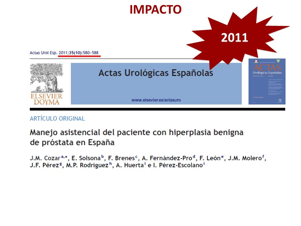 IMPACTO 2011 Preguntar a los profesionales