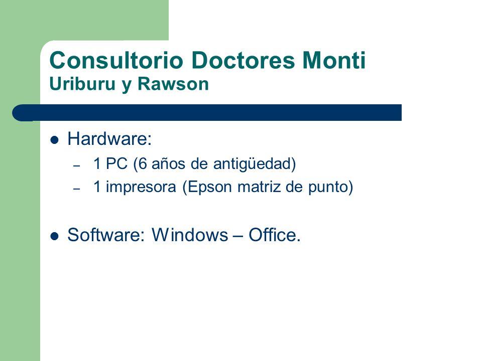 Consultorio Doctores Monti Uriburu y Rawson