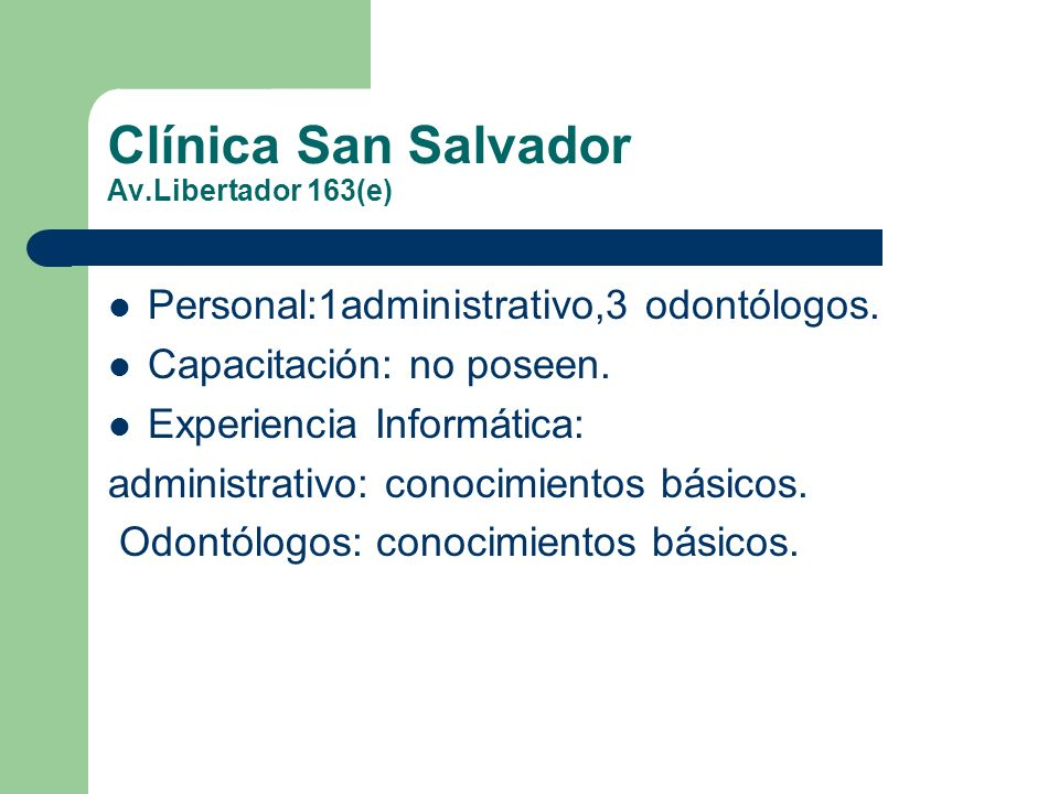 Clínica San Salvador Av.Libertador 163(e)