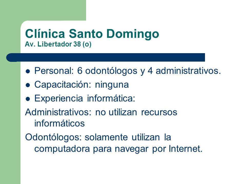 Clínica Santo Domingo Av. Libertador 38 (o)