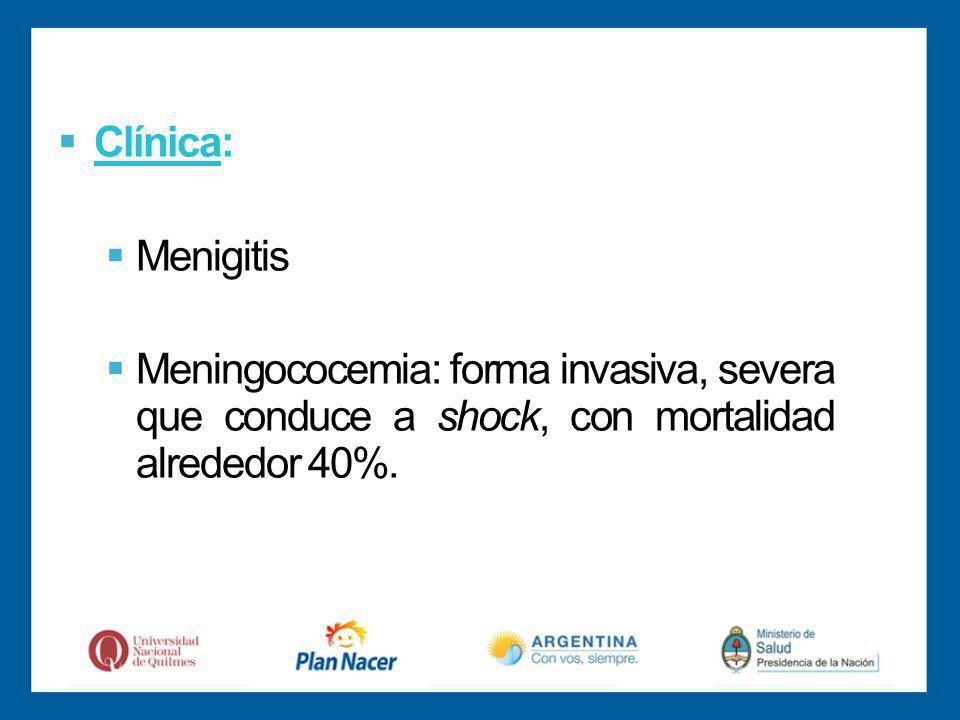 Clínica: Menigitis.
