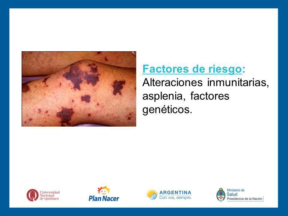 Factores de riesgo: Alteraciones inmunitarias,