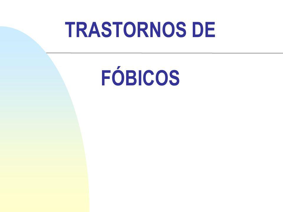 TRASTORNOS DE FÓBICOS