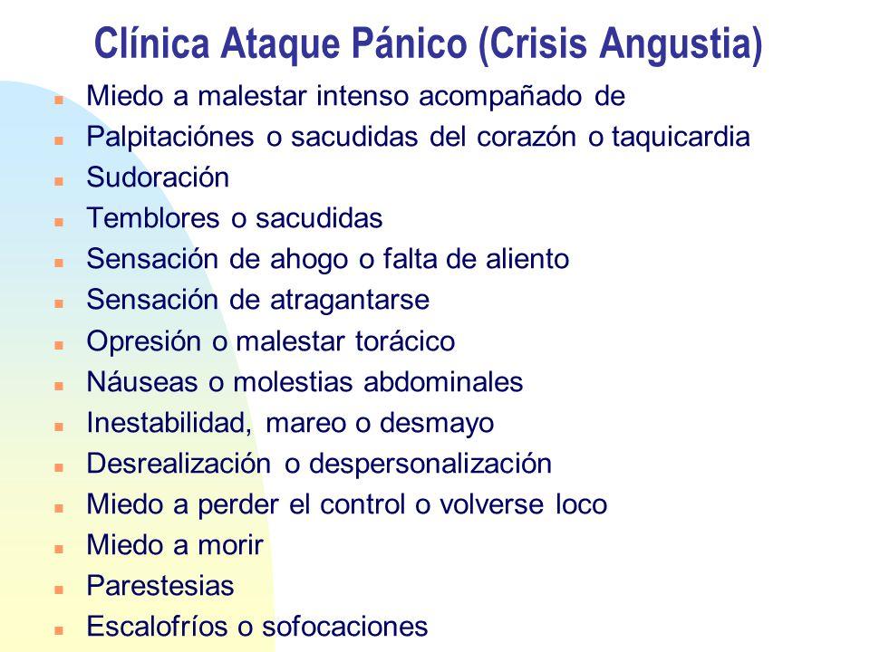 Clínica Ataque Pánico (Crisis Angustia)