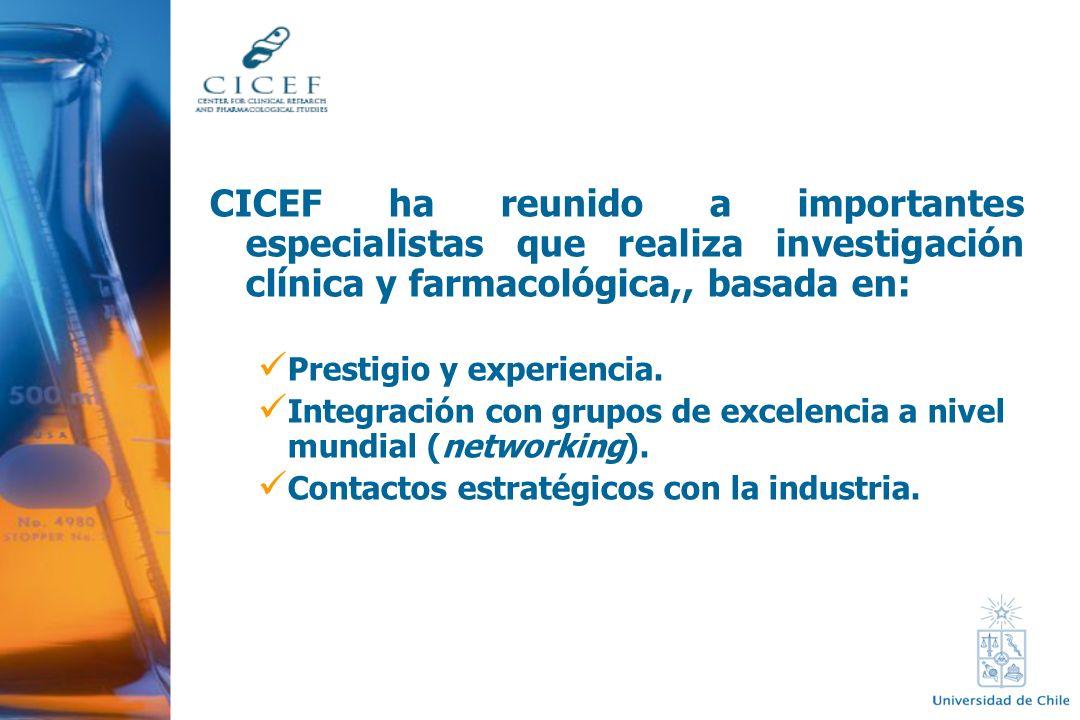 CICEF ha reunido a importantes especialistas que realiza investigación clínica y farmacológica,, basada en: