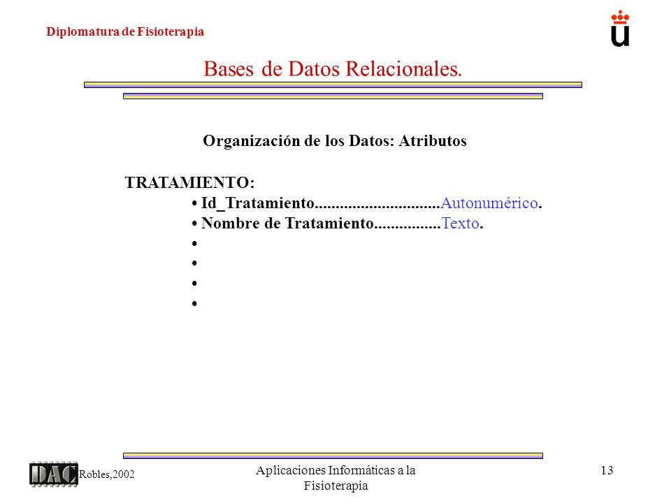 Bases de Datos Relacionales.