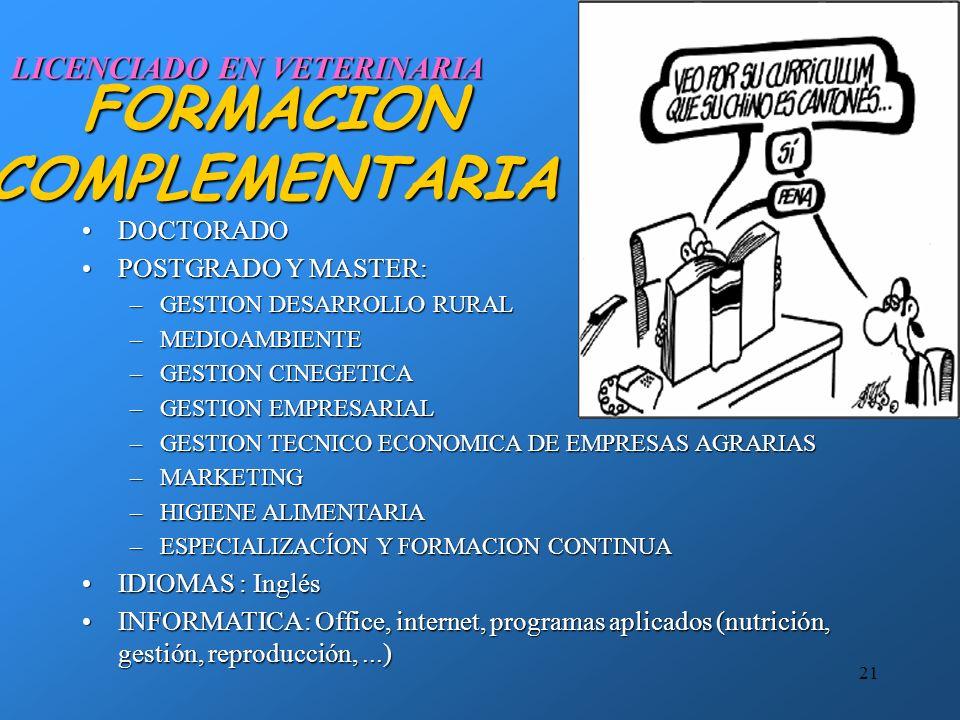 FORMACION COMPLEMENTARIA