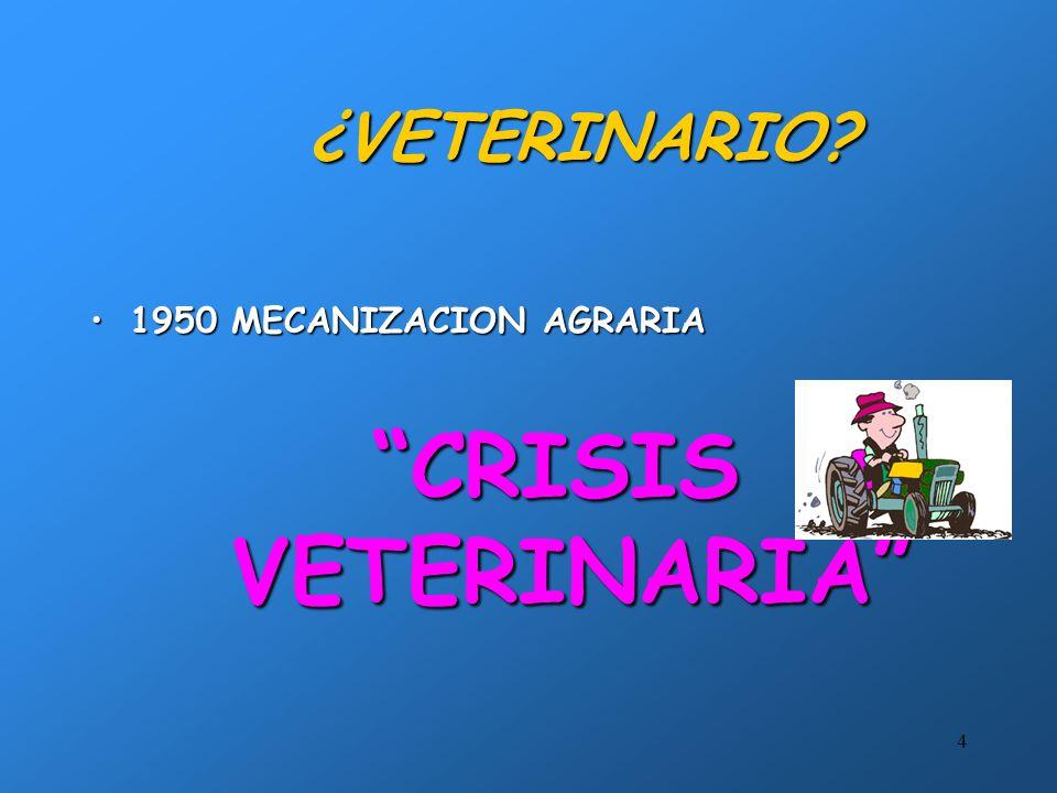 ¿VETERINARIO 1950 MECANIZACION AGRARIA CRISIS VETERINARIA