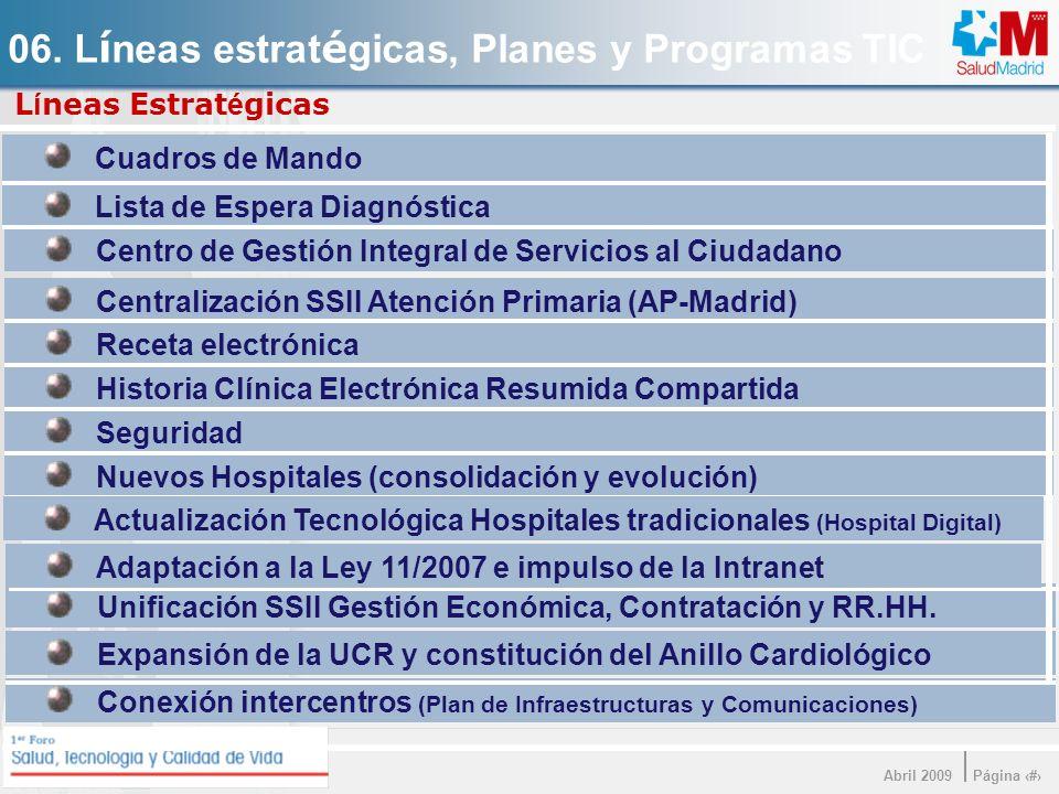 06. Líneas estratégicas, Planes y Programas TIC