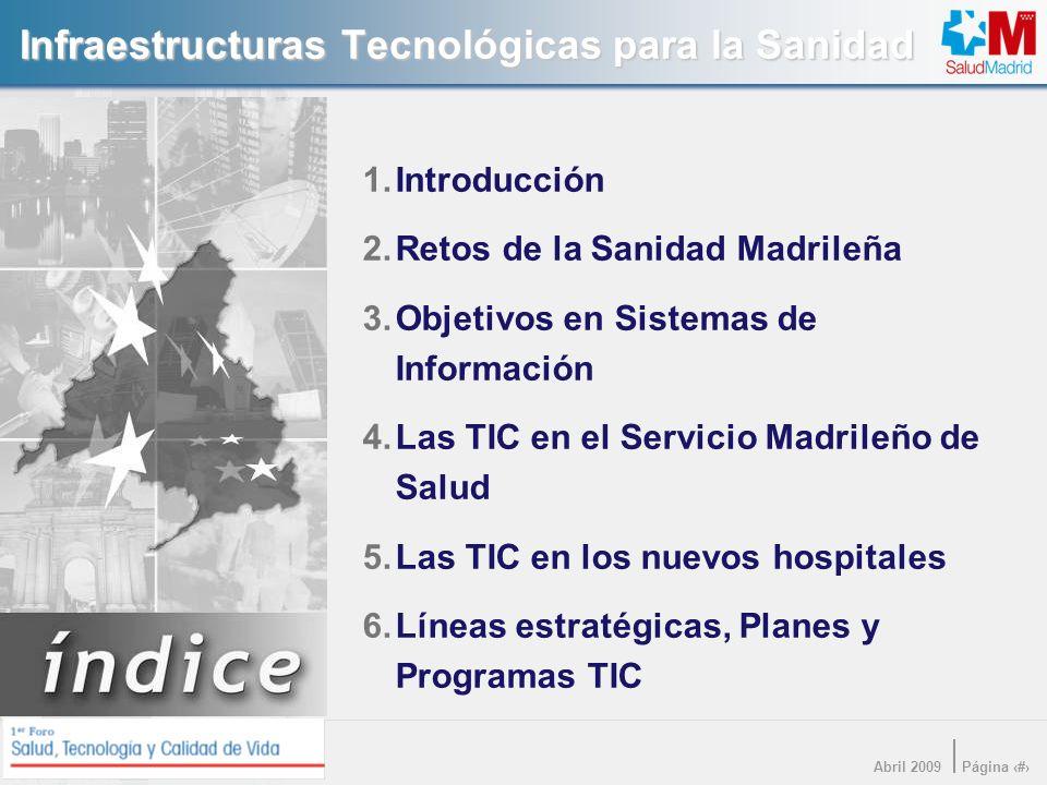 Infraestructuras Tecnológicas para la Sanidad