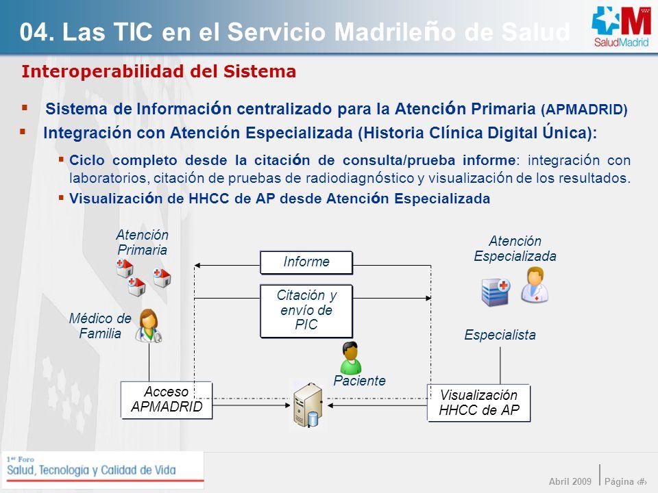 Interoperabilidad del Sistema