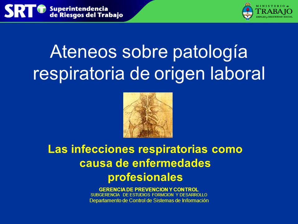 Ateneos sobre patología respiratoria de origen laboral