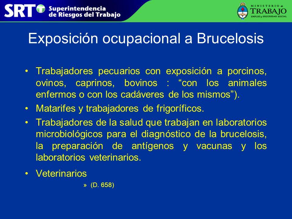 Exposición ocupacional a Brucelosis