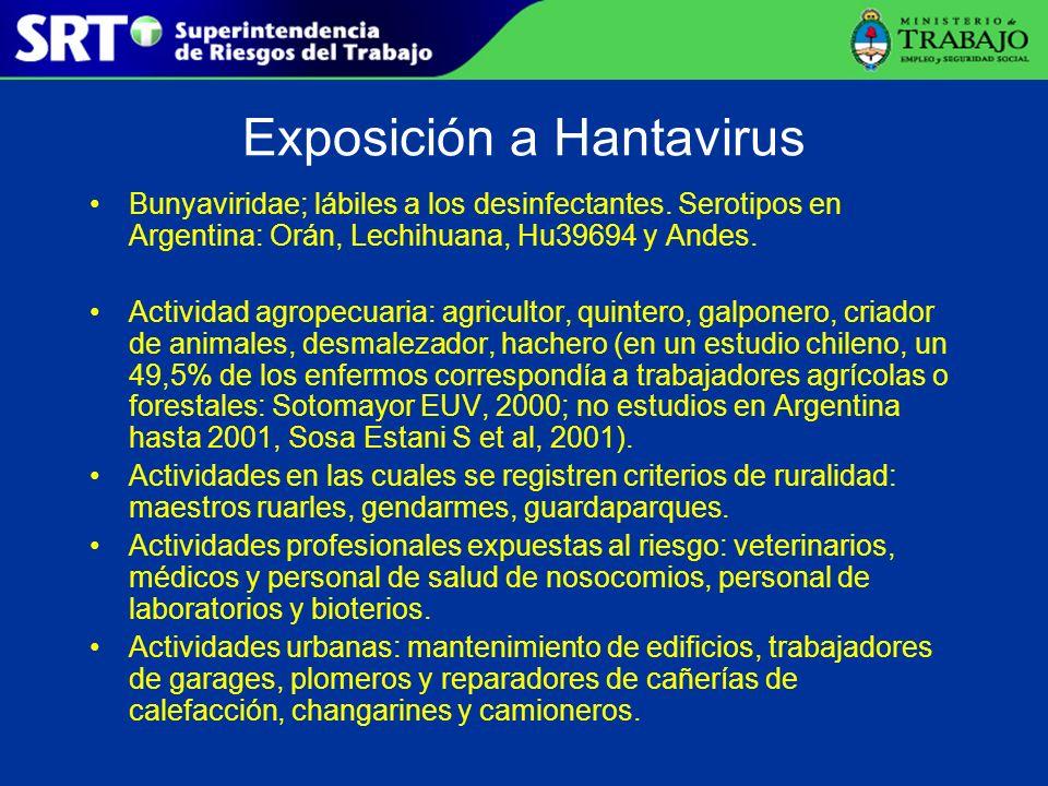 Exposición a Hantavirus