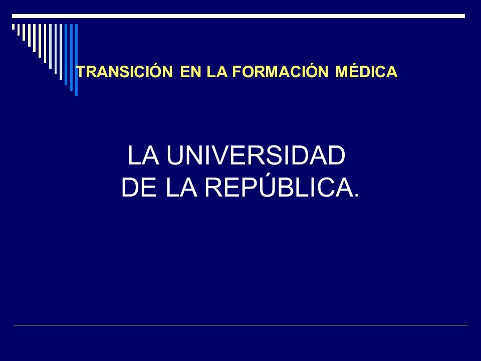 TRANSICIÓN EN LA FORMACIÓN MÉDICA