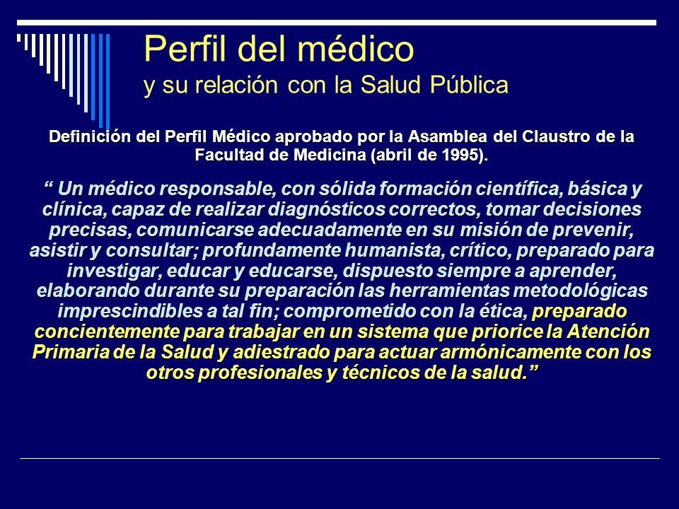 Perfil del médico y su relación con la Salud Pública