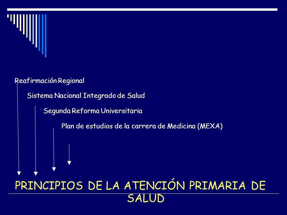PRINCIPIOS DE LA ATENCIÓN PRIMARIA DE SALUD