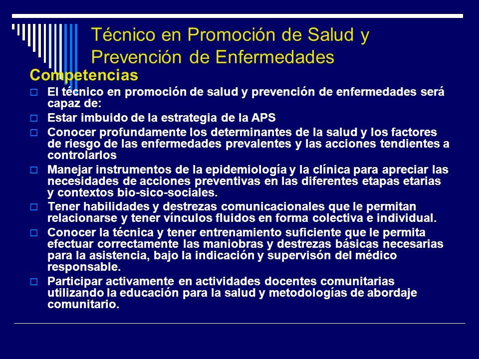 Técnico en Promoción de Salud y Prevención de Enfermedades